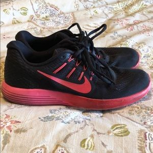Nike Shoes - Black & Pink Nike Lunarlon Shoes
